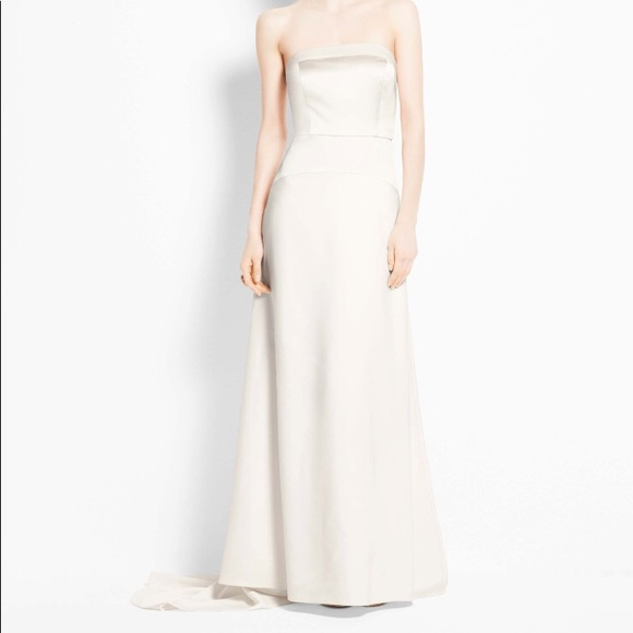 Ann Taylor Dresses Strapless Ivory Wedding Gown 4p Nwt Poshmark